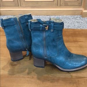 Trask Turquoise leather boots
